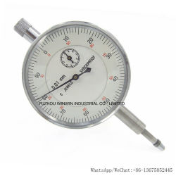 6 Jewels Shock-Proof 0-10mm Dial Indicator with 0.01mm Resolution (WW-NG1031)