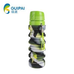 Hot Items of Silicone Drinking Collapsible Water Bottle Foldable Sports Water Bottle
