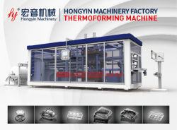 Automatic BOPS/Pet/PVC/HIPS/PLA/PS/PP Sheet Plastic Tray/Box/Container/Cup /Lid /Plate Plastic Roll Thermofrom/Vacuum Forming Making Thermoforming Machine