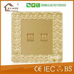 Cheap Wholesale PC Material Hotel Double Computer Wall Socket
