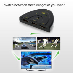 HDMI Switcher Switch 3 in 1 out HDMI Splitter