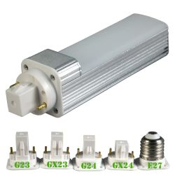 2000k/3000k/4000k/6000k G23/Gx23/G24/Gx24/E26/E27 5W LED G24 Plug Lamp