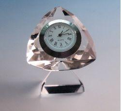 Cheap Gifts Diamond Shape Crystal Clock