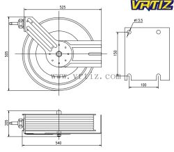Widely Used Installed on Cabinet Fire Hose Reel (HW120)