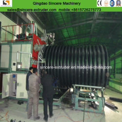 PE PP Profiled Spiral Corrugated Pipe Extrusion Line\Making Machine