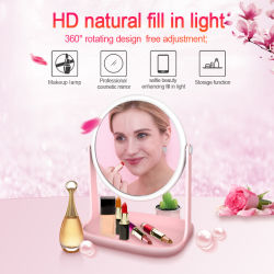 ceb11ea1ccd Rk36 5X Magnifying with Magnetic 360 Rotate Mini Cosmetic LED Mirror Light