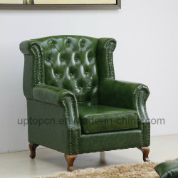 Unique Wooden Frame Upholstery Pull Clasp Leisure Aemchair (SP HC603)