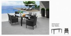 Garden Rattan Dining Set 6 Chairs and a Table