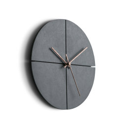 Round Creative Brief Mute MDF Wood Hanging Wall Clock with Needle