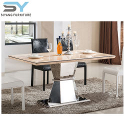 Charming Glass Furniture Low Dining Table Marble Table Fiberglass Dining Table