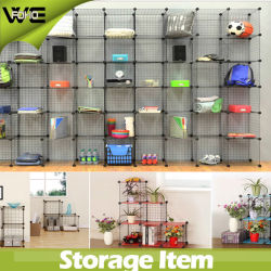 DIY Mesh Storage Shelves Box Cabinet with Wire Metal Material 4mm and 2mm Thickness 3 Cubes/4 Cubes/5 Cubes/6cubes/12cubes