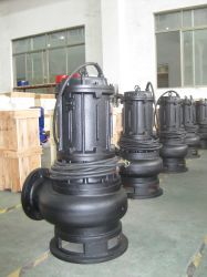 Non-Clog Waste Water Centrifugal Sewage Submersible Drainage Pump with Auto Coupling (WQ) , Deep Well Pump, Pond Pump, Garden Pump, Submerged Sump, Slurry Pump