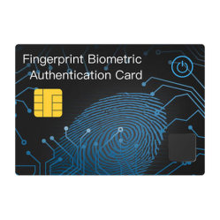 Biometric Fingerprint Smart Card with NFC, Fingerprint Pretreatment < 1 S