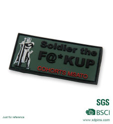 Customized Round Cheaper Plastic PVC Logo Lapel Pin for Sale (xd-8654)