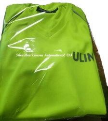 Lady's V Neck Dry-Fit Sports Wear in Lemon Green