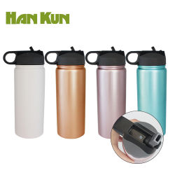 BPA Free Manufacturer Stainless Steel Sport Water Bottle Vacuum Cup with Straw