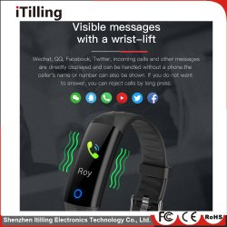 Fashion Fitness Smart Watch Bracelet Wristband with Bluetooth IP68 Waterproof Sports Tracking Cool Night Running Swimming in The Water Hiking Riding Climbing