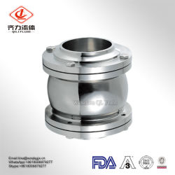 Factory 304 316L Sanitary Stainless Steel Non Return Welded Clamped Threaded Flange Check Valve