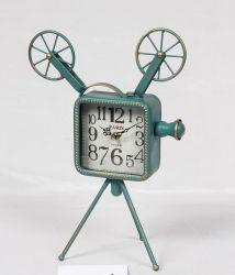 Wholesale Antique Camera Metal Table Clock