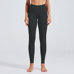 Blank Plain Daily Sports Leggings with Side Pockets