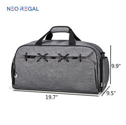 High Quality Durable Multifunctional Stylish Large Capacity Gym Sport Duffel Travel Bag with Shoes Compartment