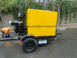Auto Priming Trash Diesel Driven Centrifugal Pump with Trailer