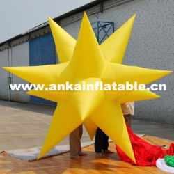 LED Light Inflatable Hanging Star for Decorations