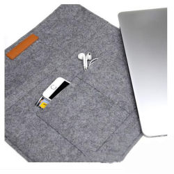 Wholesale Handmade Felt Laptop Sleeves iPad Computer Bag Felt Laptop Bag