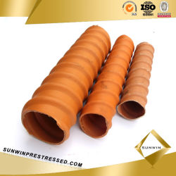 Manufacture Wholesale HDPE Corrugated Pipe for Prestressed Concrete