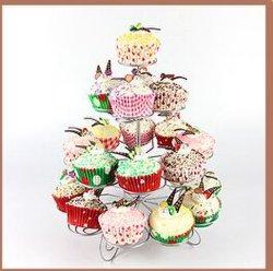 Metal Wedding 4 Tier Cupcake Stand