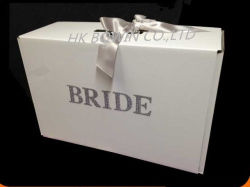 Large Hard Cardboard Wedding Dress Keepsack Storage Box Gift Box