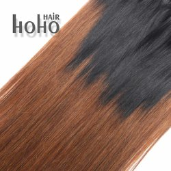 PRO Straight Ombre 18 Inch Clip in Human Hair Extension