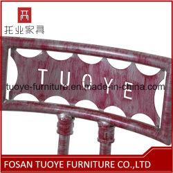 Iron Powder Coating Wooden Seat Metal Chair Restaurant Furniture