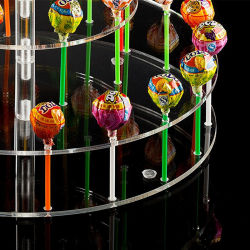 Custom Cake for Lollipop Cupcake Acrylic Display Holder
