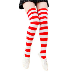 1f3bd269a Long Stockings Women Cotton Warm Thigh High New Fashion Striped Knee Socks  Sexy Over The Knee