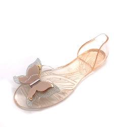 175c0429432d Bowknot Fashion Design Woman Fish-Billed Crystal Slipper PVC Fancy Flat  Wholesale Jelly Sandal