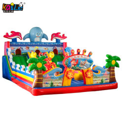 Beautiful Design Amusement Park Kids Castle Inflatable Candy Bounce House Stair Slide
