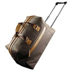 Leather Nylon Designer Fashion Leisure Promotional Luggage Travel Handbag Tote Trolley Bag For Promotion School