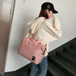 Custom Oxford Sport Tote Bag Women Character Luggage Travel Bag Duffle Bag