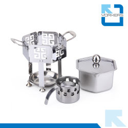 2016 Unique Design Stainless Steel Spirit Stove Camping Stove Parts