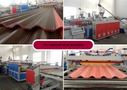 PVC Foam Board Machine Plastic PVC Pipe WPC Profile PVC Hollow Roof Sheet Extruder Making Machine