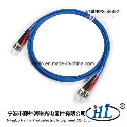 Duplex mm/Om3 St Fiber Optic Patch Cord with Ceramic Ferrules