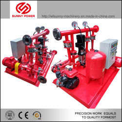 34kw 4inch Diesel Fire Pump System Driven by 485g Engine