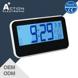 Sound Controlled Digital Table Alarm Clock with Big LCD Display
