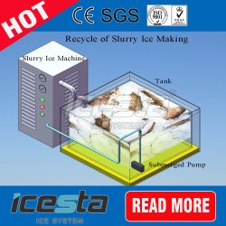 100% Full Contact Slurry Crystal Ice Machine Faster Cooling Speed