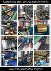 Building Material ACP Acm Stainless Steel Zinc Copper Aluminium Composite Panel for Roof Wall