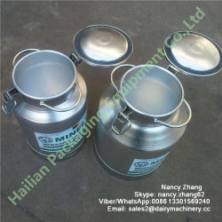 Cheapest Price Aluminum Milk Bucket Can with Logo Sticker