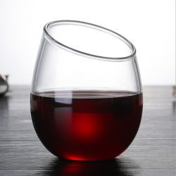 Egg Shape 2 Style Glass Beer Cup Wine Mug