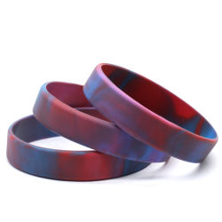 Wholesale Cheap Custom Silicone Fashion Sport Silicon Rubber Band Printing Logo Wristband Bracelet for Promotional Gift