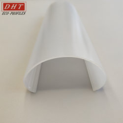 Milky White Diffuser Polycarbonate PC Cover LED Extrusion Line Lighting Cover